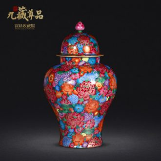 Jingdezhen porcelain vases, antique hand-painted general famille rose colour thread can collect ornament gift porcelain