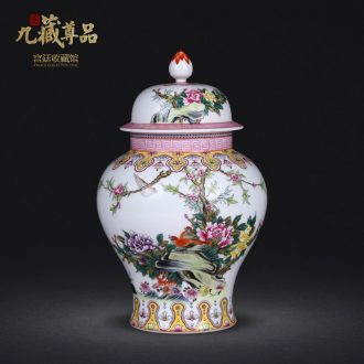 Jingdezhen ceramics industry general antique hand-painted pastel flowers have fragrance can sitting room adornment crafts
