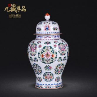 Jingdezhen ceramics antique hand-painted pastel spends the general pot sitting room porch household adornment handicraft furnishing articles