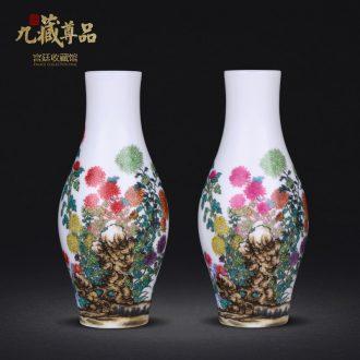 Jingdezhen ceramics imitation qing qianlong colored enamel enamel ten treasure sitting room porch decoration penjing collection