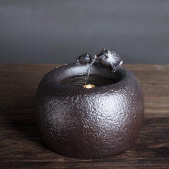 Million kilowatt/hall new water machine ceramic water furnishing articles humidifier creative household adornment water toad language