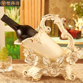 Vatican Sally 's European ceramic wine rack creative luxurious sitting room ark, home furnishing articles wedding gift
