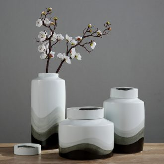 Furnishing articles of jingdezhen ceramic vases, checking out works of art to receive television household to decorate the sitting room porch wine accessories