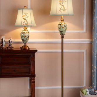 Doren American ceramic floor lamp European I and contracted sitting room bedroom vertical floorlamp creative study