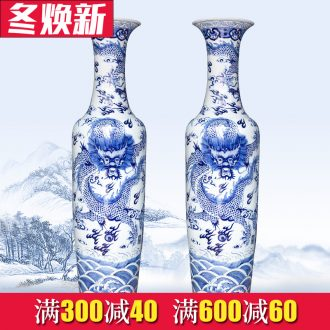Jingdezhen ceramics of large blue and white porcelain vase decoration to the hotel living room home furnishing articles large opening gifts