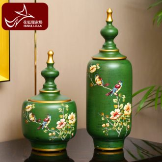European American country ceramic storage tank of TV ark household soft adornment the sitting room porch European wine furnishing articles