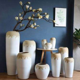 Large vases, I and contracted sitting room flower arranging flowers white thick some ceramic pot home decoration ceramic furnishing articles