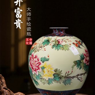 Porcelain of jingdezhen ceramics vase large sitting room place flower arranging restoring ancient ways is rich ancient frame of Chinese style household decorations - 601462663450