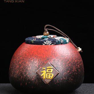 Tang Xian caddy ceramic cylinder wake POTS of tea tea sealed tank storage tanks storehouse of tea container storage tank
