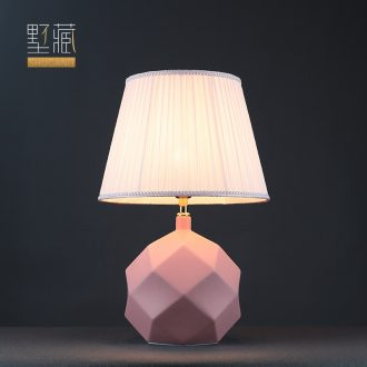 Light and decoration ceramics lamp lamp decoration art contracted and I American desk lamp of bedroom the head of a bed creative sitting room lamps and lanterns