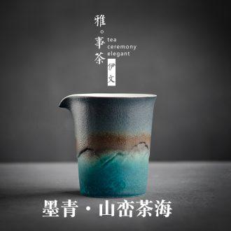 Evan ceramic fair keller Japanese coarse pottery household in tea is single kung fu tea tea cup fair cup