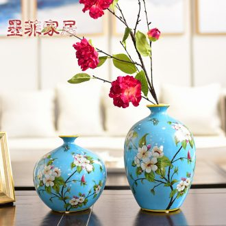 Murphy's new Chinese style ceramic vase hydroponic American country example room sitting room soft adornment flower art flower arranging, furnishing articles