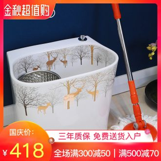 Million birds wash mop mop pool trough basin of household ceramics large-sized ceramic mop pool small balcony mop pool