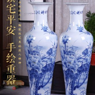 Jingdezhen ceramics of large vase furnishing articles large flower arranging the sitting room of Chinese style household adornment hand - made of porcelain - 606278438231