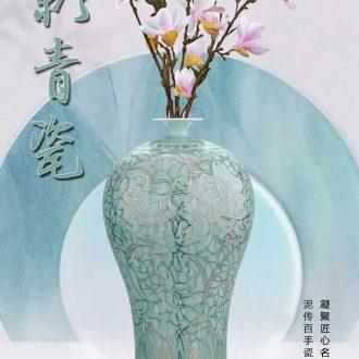 Jingdezhen ceramics China red peony of large vases, flower arranging TV ark adornment of I sitting room place - 602758070166