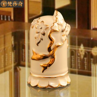 Vatican Sally 's ceramic toothpick box of European key-2 luxury home sitting room toothpicks extinguishers creative decorations table hotel furnishing articles