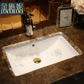 Art undercounter lavabo embedded household square ceramic lavatory toilet stage basin that wash a face basin