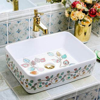 Square ceramic household European toilet stage basin washing a face creative art that defend bath, the bathroom sink basin