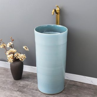 Ceramic column type lavatory basin of contemporary and contracted floor one column family of small family toilet lavabo