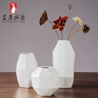 2019 new ceramic vase white contracted and I sitting room TV creative zen dry place desk vases