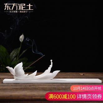 Oriental clay ceramic and lotus incense inserted zen joss stick sandalwood household interior there are furnishing articles yipin the qing lotus
