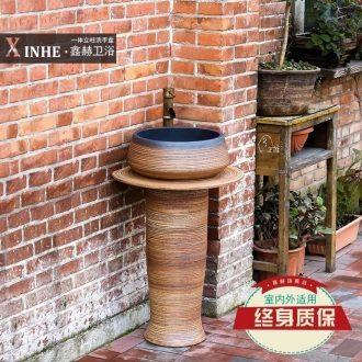 Vertical pillar lavabo ceramics basin one bathroom toilet washs a face basin of pillar landing art the balcony