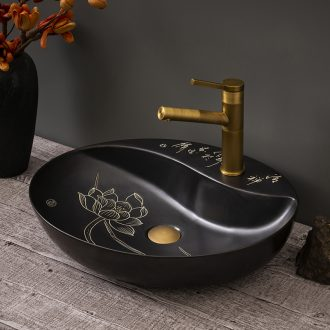 Retro its art ceramic lavabo toilet lavatory basin is suing balcony black stage basin home