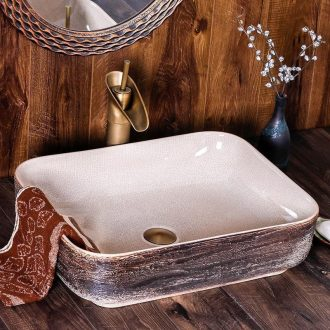 The stage basin of jingdezhen ceramic dish square Chinese style restoring ancient ways is creative art hotel toilet washs a face to wash your hands wash basin