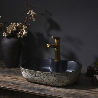 Basin of Chinese style restoring ancient ways is the stage art ceramic lavatory basin that wash a toilet lavabo household balcony