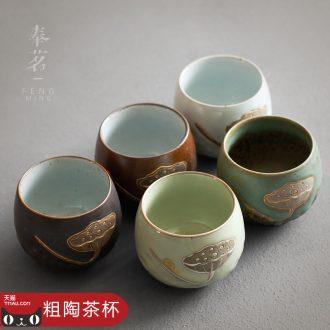 Serve tea crude after getting sample tea cup Japanese master cup single cup kung fu tea tea cups porcelain tea cups