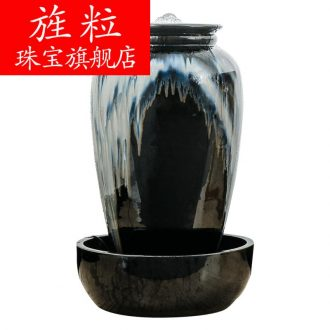 Be ceramic sitting room lucky water fountains and feng shui wheel of furnishing articles floor decoration indoor humidifier creative opening ceremony