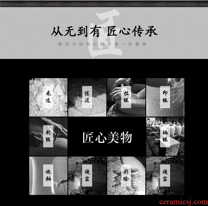 Chinese blue and white porcelain of jingdezhen ceramics sitting room of large hotel opening large vases, decorative gifts furnishing articles - 586485215973