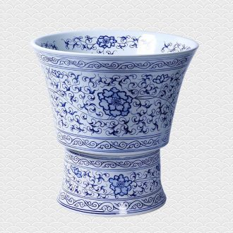 Jingdezhen ceramic household balcony retro manual stone archaize mop pool toilet size mop pool