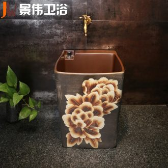 JingWei mop mop pool is suing the pool toilet mop bucket basin balcony is suing the mop pool ceramic mop pool