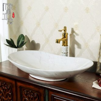 M beautiful ceramic art basin on its oval sink european-style bathroom sinks marble basin