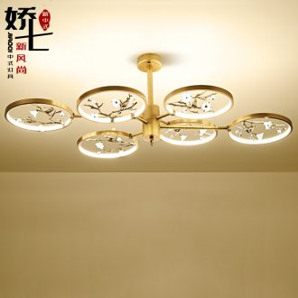 New Chinese style dome light sitting room towns all copper cuttlefish ceramic name plum blossom put bedroom study zen contracted creative lamp restaurant
