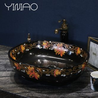 Million birds European stage basin round ceramic household sink art lavatory basin Jin Wen lavabo