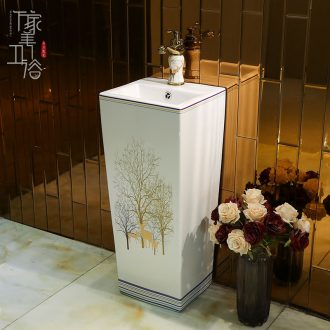 Small vertical column basin ceramic basin of pillar type lavatory toilet a body wash to one balcony floor