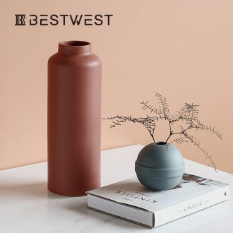 BEST WEST light key-2 luxury furnishing articles sitting room put ceramic vase vase sample room soft adornment desktop originality