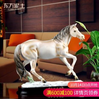 Oriental clay ceramic handicraft furnishing articles office business gifts to send the led/success D09-08