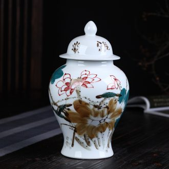 Jingdezhen ceramics hand - made enamel tank storage tank general furnishing articles archaize sitting room porch home decoration