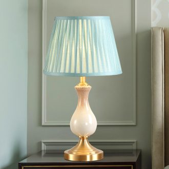 American whole copper ceramic desk lamp LED contracted a warm idea of bedroom the head of a bed a marriage between example room chandeliers