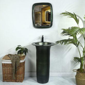 Ceramic glaze metal basin of pillar type lavatory balcony column basin floor toilet lavabo