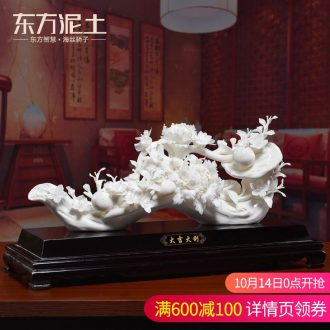 Oriental clay ceramic flower furnishing articles of handicraft sitting room porch decoration version into gifts/prosperous New Year