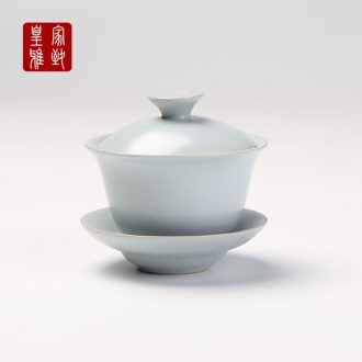 Royal refined your up tureen tea cup open piece of kung fu tea set three cups to cup large bowl ceramic package