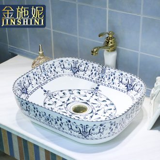 The Table plate oval ceramic lavabo stage basin of Chinese style restoring ancient ways art basin toilet lavatory basin