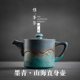 Evan ceramic teapot household Japanese tea kettle kung fu tea tea straight small single pot of tea