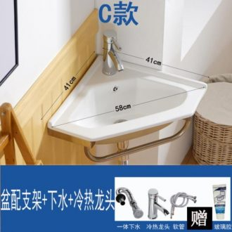 Triangle face floor toilet lavabo mirror of the basin that wash a face ceramic plate of small basin of mini simple Angle