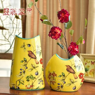 Murphy's new Chinese style classic ceramic vase hydroponic American country living room TV table wine decorative flower arranging