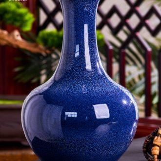 Jingdezhen ceramics creative contemporary and contracted vase dry flower arranging furnishing articles furnishing articles sitting room of Chinese style household decorations